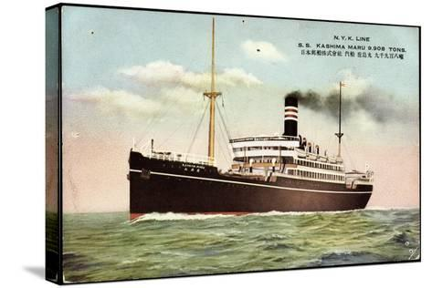 Nyk Line, S.S. Kashima Marus, Dampfer, Steamer--Stretched Canvas Print