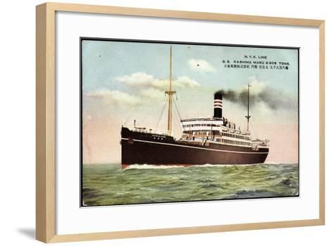 Nyk Line, S.S. Kashima Marus, Dampfer, Steamer--Framed Art Print