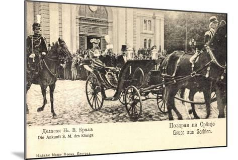 König Von Serbien in Offener Kutsche, Uniformen--Mounted Giclee Print