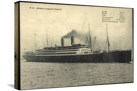 Dampfschiff Kaiser Auguste Victoria Der Hapag--Stretched Canvas Print