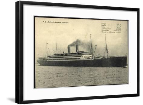 Dampfschiff Kaiser Auguste Victoria Der Hapag--Framed Art Print