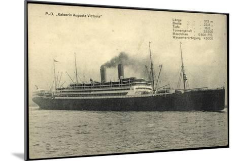 Dampfschiff Kaiser Auguste Victoria Der Hapag--Mounted Giclee Print