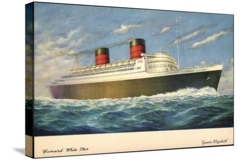 Künstler Cunard White Star Line, Queen Elisabeth--Stretched Canvas Print