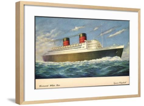 Künstler Cunard White Star Line, Queen Elisabeth--Framed Art Print