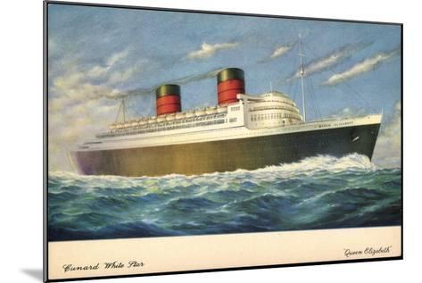 Künstler Cunard White Star Line, Queen Elisabeth--Mounted Giclee Print