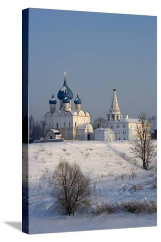 Russia, Golden Ring, Suzdal, Kremlin and Cathedral of Nativity of Virgin--Stretched Canvas Print