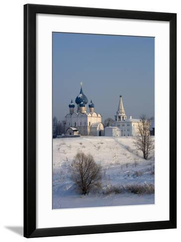 Russia, Golden Ring, Suzdal, Kremlin and Cathedral of Nativity of Virgin--Framed Art Print