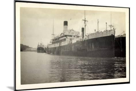 Foto Vasari, Lamport and Holt Line, Dampfer, Steamer--Mounted Giclee Print