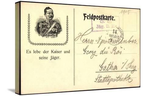 Kaiser Wilhelm II, Von Preu?en, Lang Lebe Der Kaiser--Stretched Canvas Print