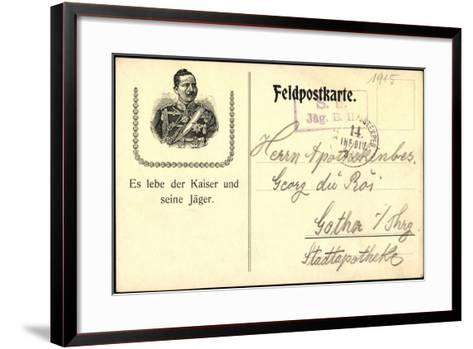 Kaiser Wilhelm II, Von Preu?en, Lang Lebe Der Kaiser--Framed Art Print