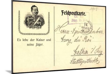 Kaiser Wilhelm II, Von Preu?en, Lang Lebe Der Kaiser--Mounted Giclee Print