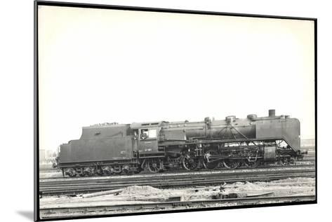 Foto Deutsche Einheitslok Nr. 41 001, Tender--Mounted Giclee Print
