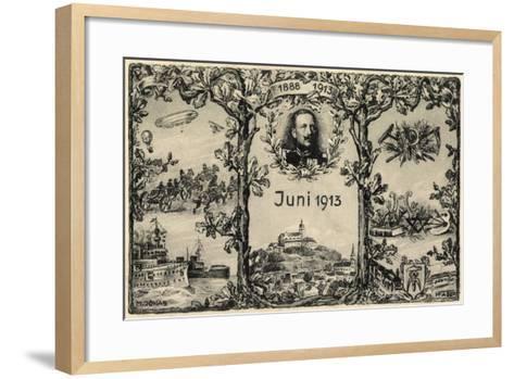 Künstler Jonas, M., Wilhelm 2, 1913, Errungenschaften--Framed Art Print