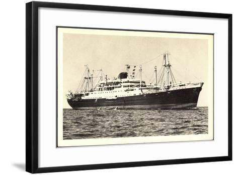 Messageries Maritimes, Paquebot Calédonien, Tahitien--Framed Art Print