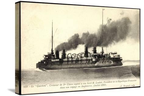 Französisches Kriegsschiff Guichen, Croiseur--Stretched Canvas Print
