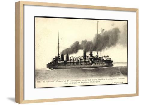 Französisches Kriegsschiff Guichen, Croiseur--Framed Art Print