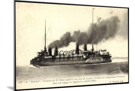 Französisches Kriegsschiff Guichen, Croiseur--Mounted Giclee Print