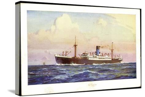 Künstler Dampfer Oceaan, Nederlandsche Stoomvaart--Stretched Canvas Print