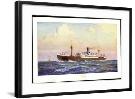 Künstler Dampfer Oceaan, Nederlandsche Stoomvaart--Framed Art Print