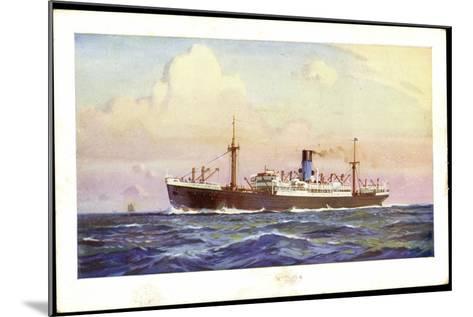 Künstler Dampfer Oceaan, Nederlandsche Stoomvaart--Mounted Giclee Print
