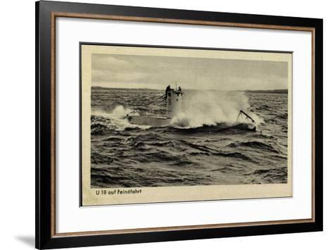 Wehrmacht, Kriegsmarine, U Boot, U 18, Feindfahrt--Framed Art Print