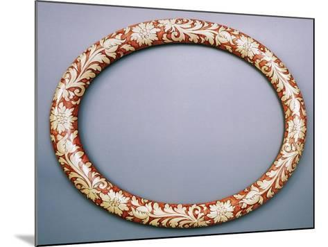 Oval Mirror Frame with Floral Decoration, Ceramic--Mounted Giclee Print