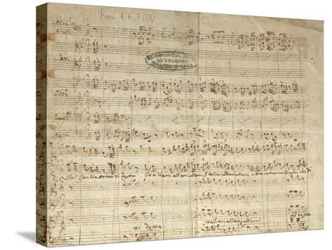 """Autograph Score for Patriotic Hymn """"Bell'Italia Ormai Ti Desta""""--Stretched Canvas Print"""