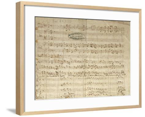 "Autograph Score for Patriotic Hymn ""Bell'Italia Ormai Ti Desta""--Framed Art Print"