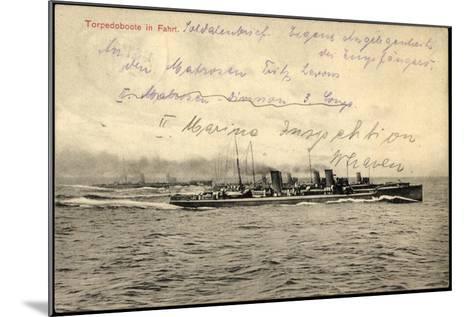 Deutsches Kriegsschiff in Fahrt Auf Hoher See--Mounted Giclee Print