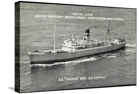 Natal Line, S.S. Umgeni, S.S. Umtali, Dampfer--Stretched Canvas Print