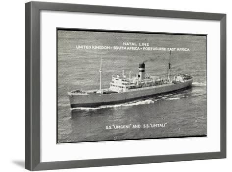 Natal Line, S.S. Umgeni, S.S. Umtali, Dampfer--Framed Art Print