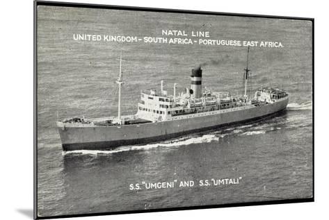 Natal Line, S.S. Umgeni, S.S. Umtali, Dampfer--Mounted Giclee Print