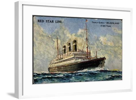 Künstler Red Star Line, Triple Screw Belgenland--Framed Art Print