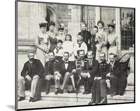 Kaiserin Friedrich Mit Hohen G?sten, Wilhelm Ii--Mounted Giclee Print