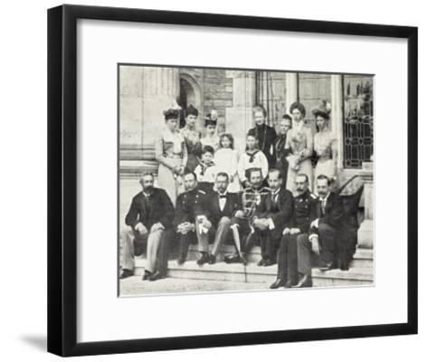 Kaiserin Friedrich Mit Hohen G?sten, Wilhelm Ii--Framed Art Print