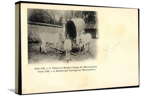 Voitures Et Boeufs a L'Usage Des Missionnaires, Bulloks, Carriage, Ochsen--Stretched Canvas Print