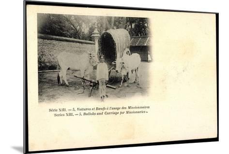 Voitures Et Boeufs a L'Usage Des Missionnaires, Bulloks, Carriage, Ochsen--Mounted Giclee Print