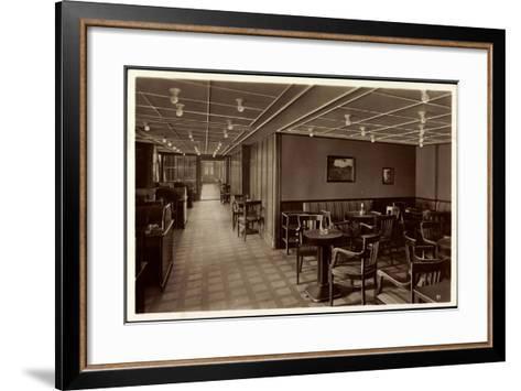 HSDG, Dampfer Monte Olivia, Schreib U Lesezimmer--Framed Art Print