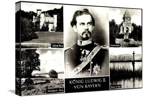 Bayern, K?nig Ludwig II, Schlo? Burg, Votivkapelle--Stretched Canvas Print