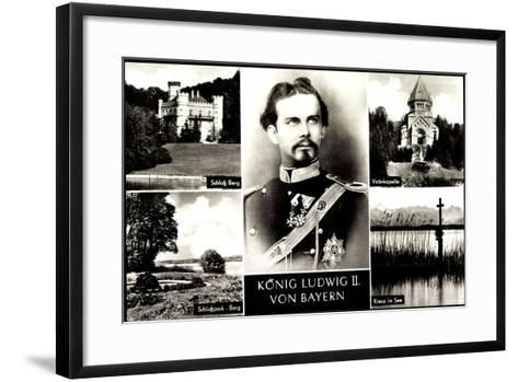 Bayern, K?nig Ludwig II, Schlo? Burg, Votivkapelle--Framed Art Print