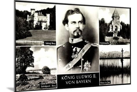 Bayern, K?nig Ludwig II, Schlo? Burg, Votivkapelle--Mounted Giclee Print