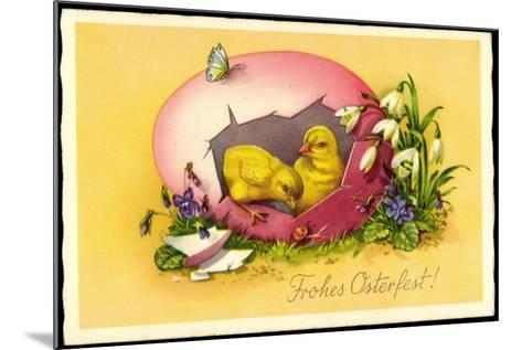 Künstler Frohe Ostern, Küken, Osterei, Amag E 118--Mounted Giclee Print
