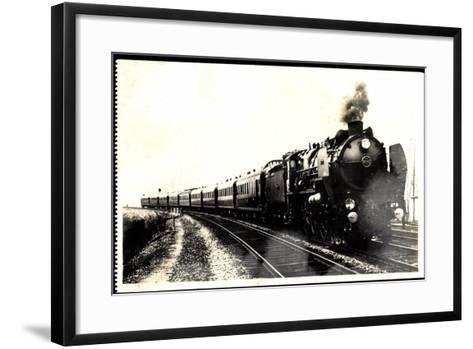 Eisenbahn, Frankreich, Dampflok, Serie 3.1251, 1930--Framed Art Print