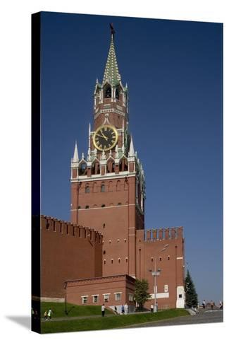 Russia, Moscow, Fortified Citadel and Saviour's Tower--Stretched Canvas Print