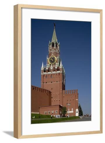 Russia, Moscow, Fortified Citadel and Saviour's Tower--Framed Art Print