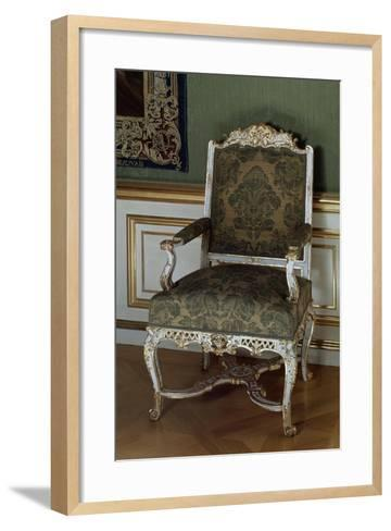 Armchair, Painted and Gilded Carved Wood, Southern Germany--Framed Art Print