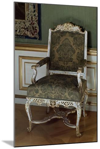 Armchair, Painted and Gilded Carved Wood, Southern Germany--Mounted Giclee Print