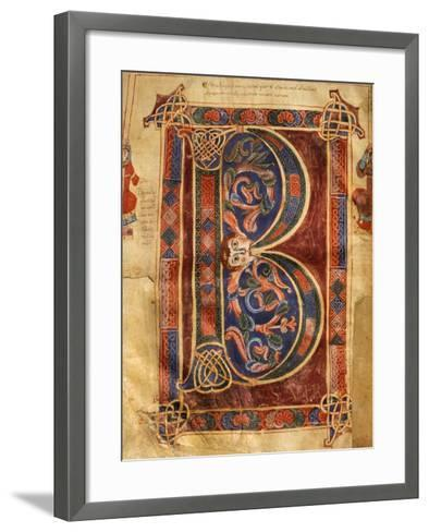 Illuminated Initial Capital Letter from a Gospels from San Benedetto Po--Framed Art Print