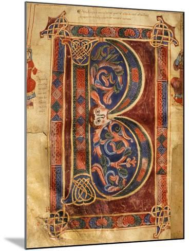 Illuminated Initial Capital Letter from a Gospels from San Benedetto Po--Mounted Giclee Print