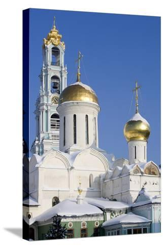 Russia, Golden Ring, Sergiev-Posad, Cathedral of Trinity--Stretched Canvas Print